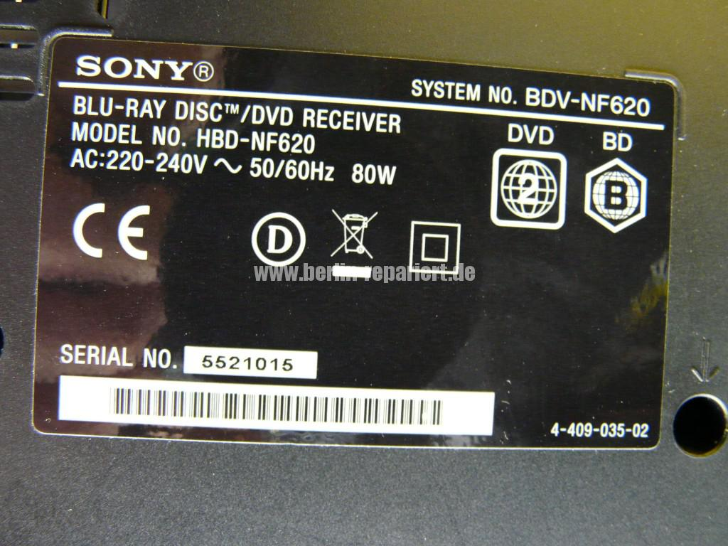Sony BDV-NF620, DVD Laufwerk nimmt keine CDs mehr an (8)