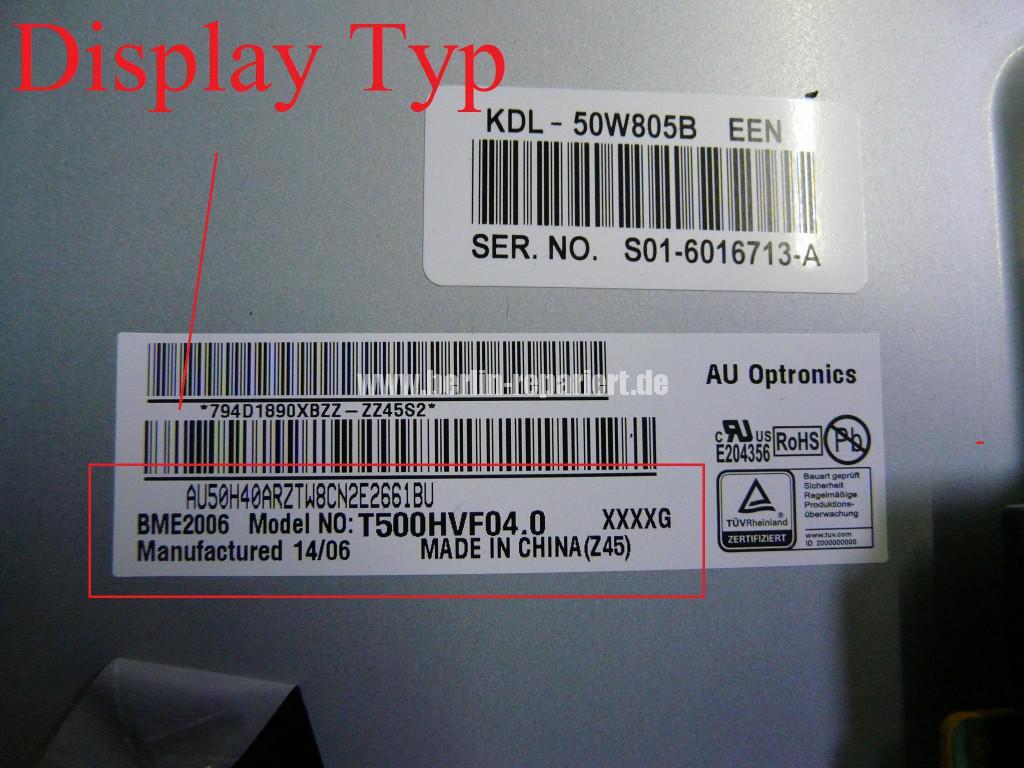 Sony KDL-50W805B, Display Defekt, AU Optronics T500HVF04.0 (5)