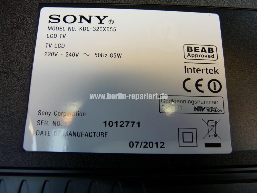 Sony KDL32EX655,geht nicht an LED Blinkt (8)