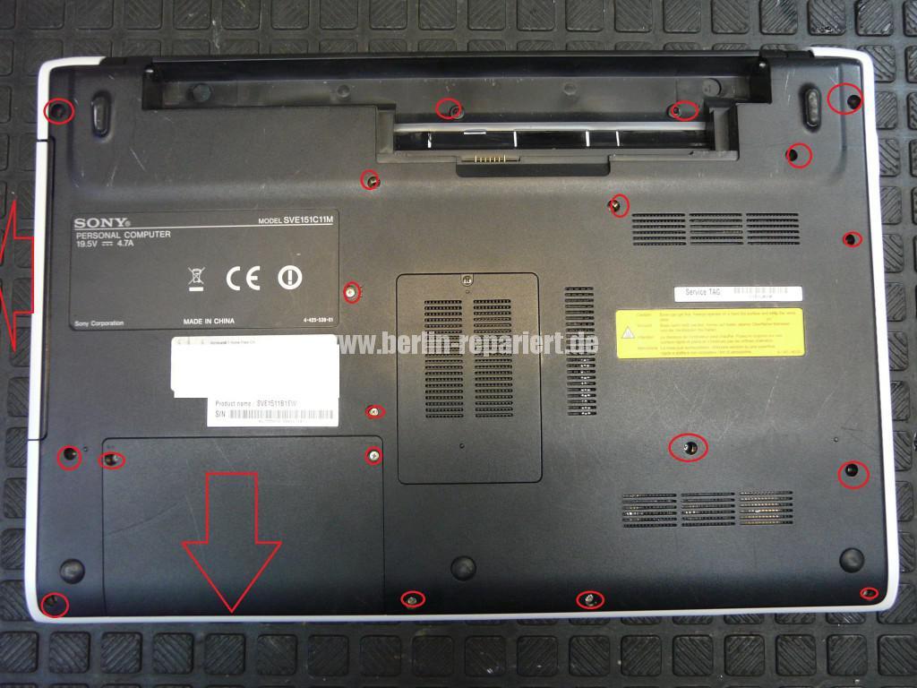 Sony SVE151C11M, Akku wird nicht geladen, über den Netzteil keine Funktion (2)