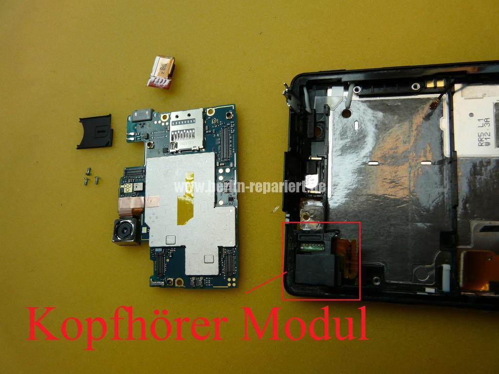 Sony Xperia Z LH36, Kopfhörer Buchse Tauschen (3)