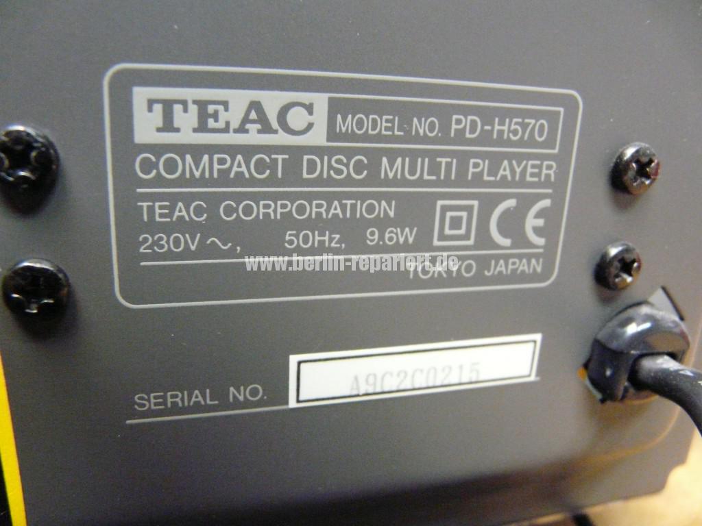Teac PD-H570, Wechsler Defekt (5)