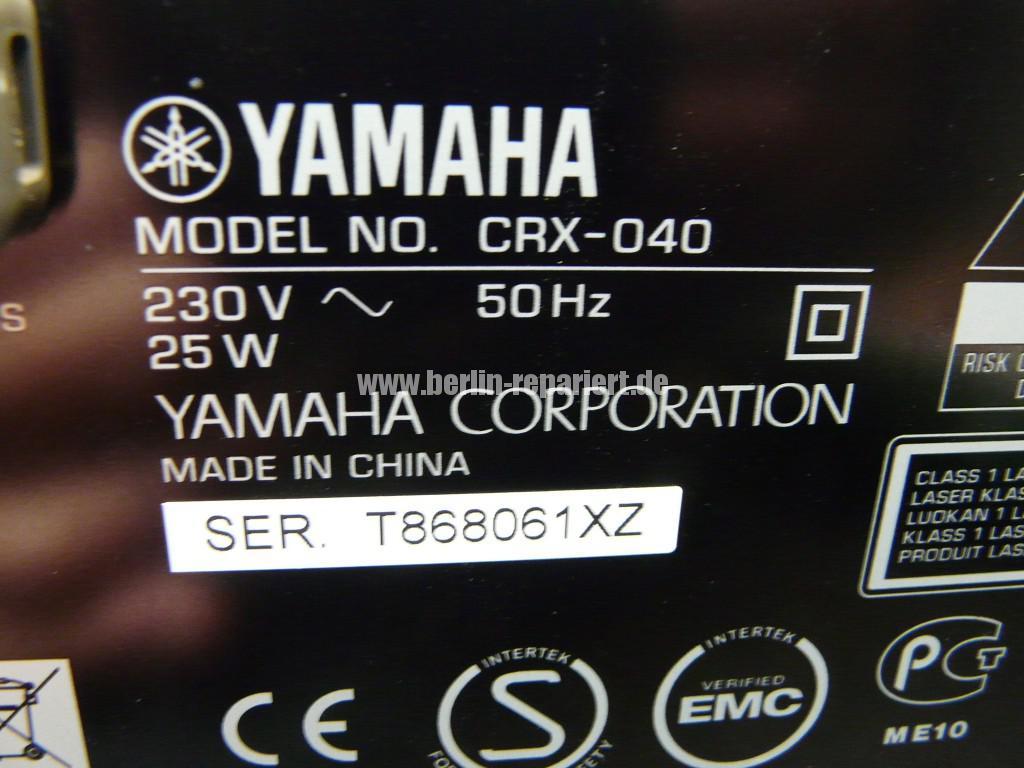 Yamaha CRX-040, erkennt kein CD mehr (11)