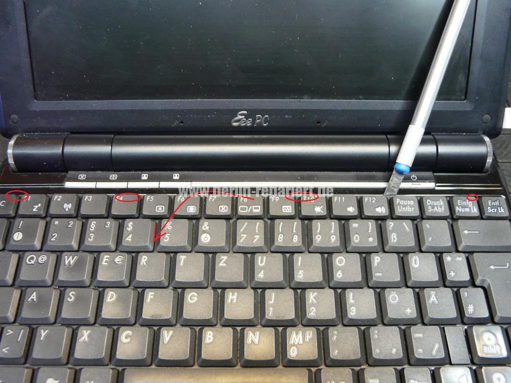 ASUS eee  PC 1000H, geht nicht an, wurde verpolt (2)