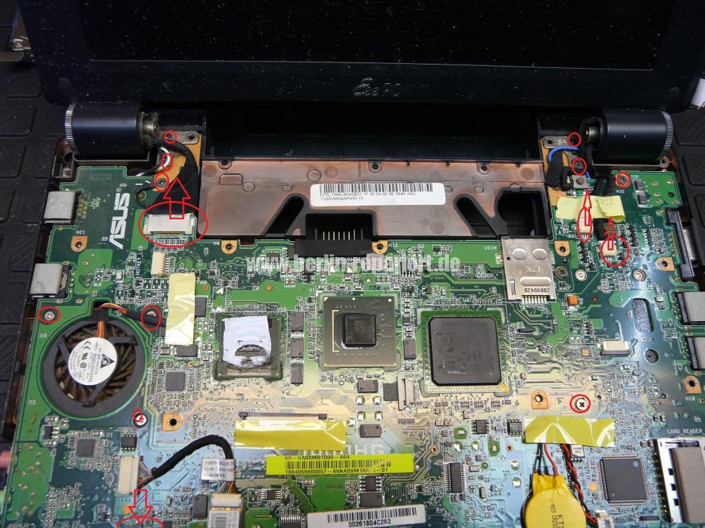 ASUS eee  PC 1000H, geht nicht an, wurde verpolt (8)