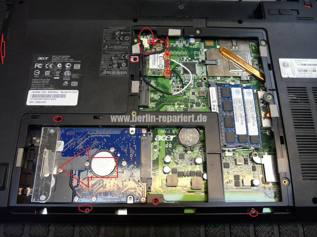 Acer Travel Mate 7740G, Lüfter Defekt, Lüfter Tauschen (5)