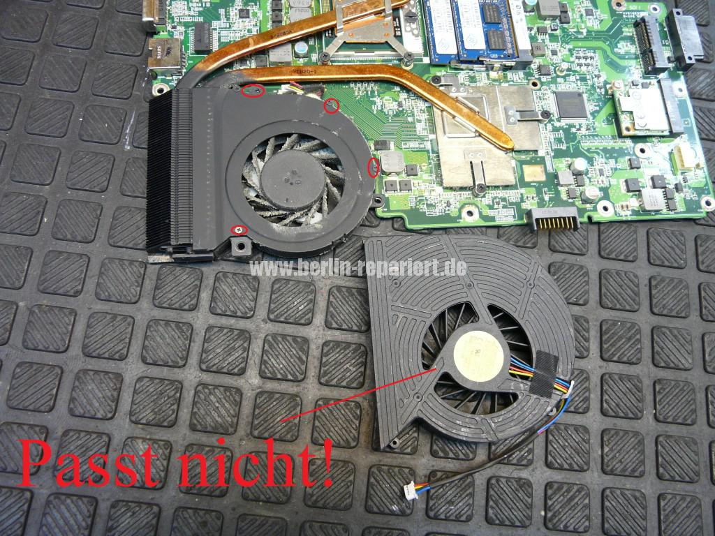 Acer Travel Mate 7740G, Lüfter Defekt, Lüfter Tauschen (7)