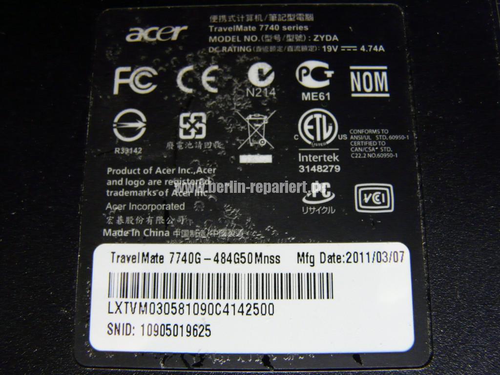 Acer Travel Mate 7740G, Lüfter Defekt, Lüfter Tauschen (8)