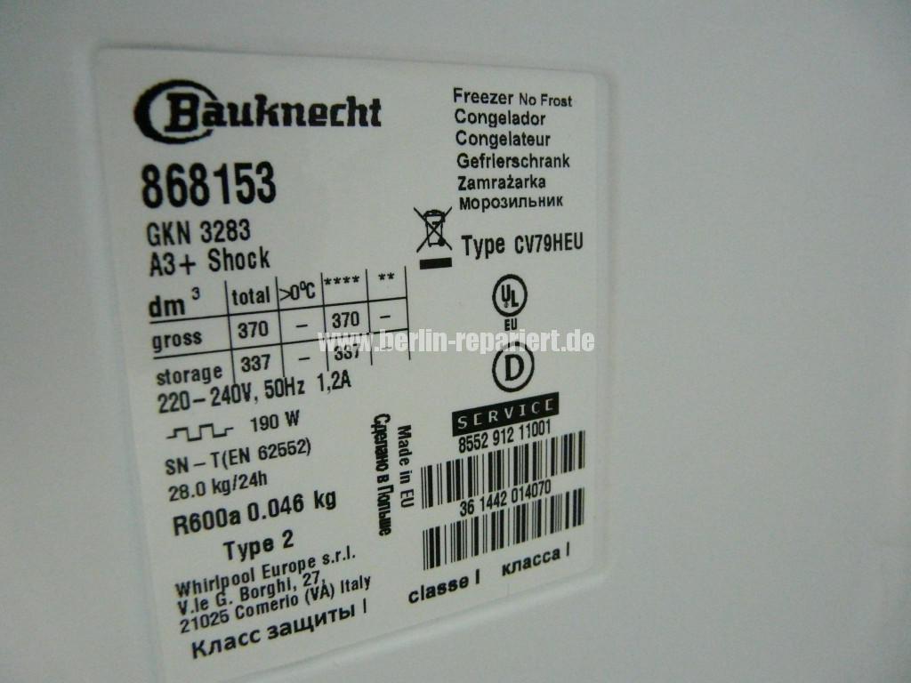 Bauknecht Qualität Kontrolle, GKN 3283(6)