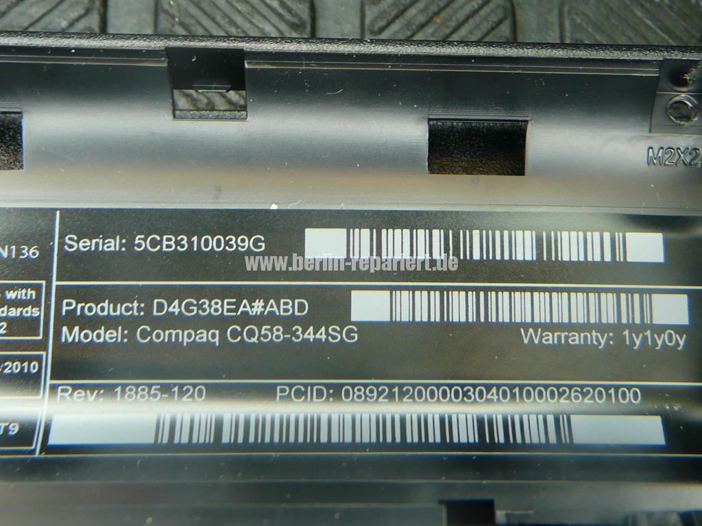 Compaq CQ58, Lüfter Defekt, Lüfter tauschen (13)