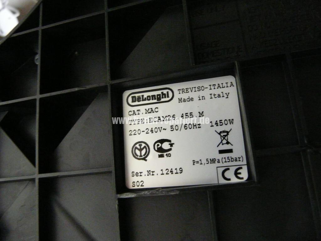Delonghi Primadonna S, ECAM26.455, Dampf Heizung Defekt (5)