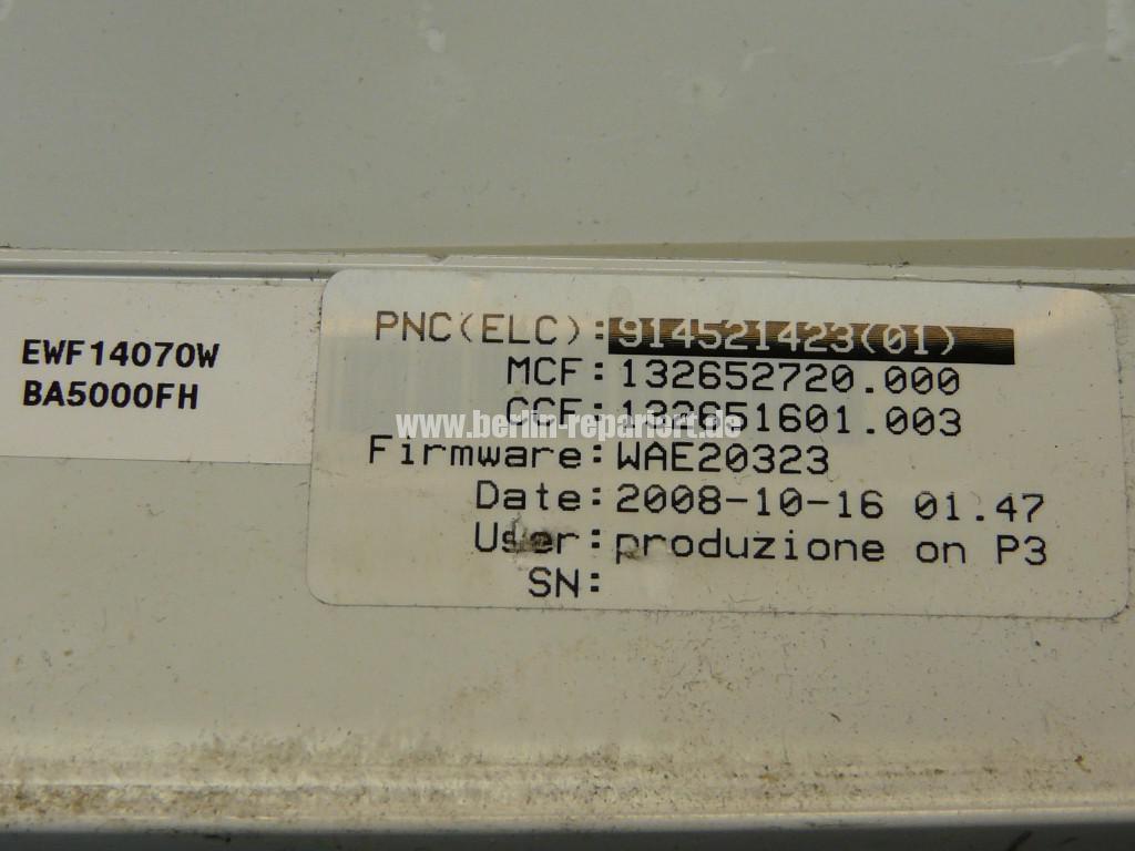 Elektrolux EWF 14070W, Motor dreht nur noch schnell (6)