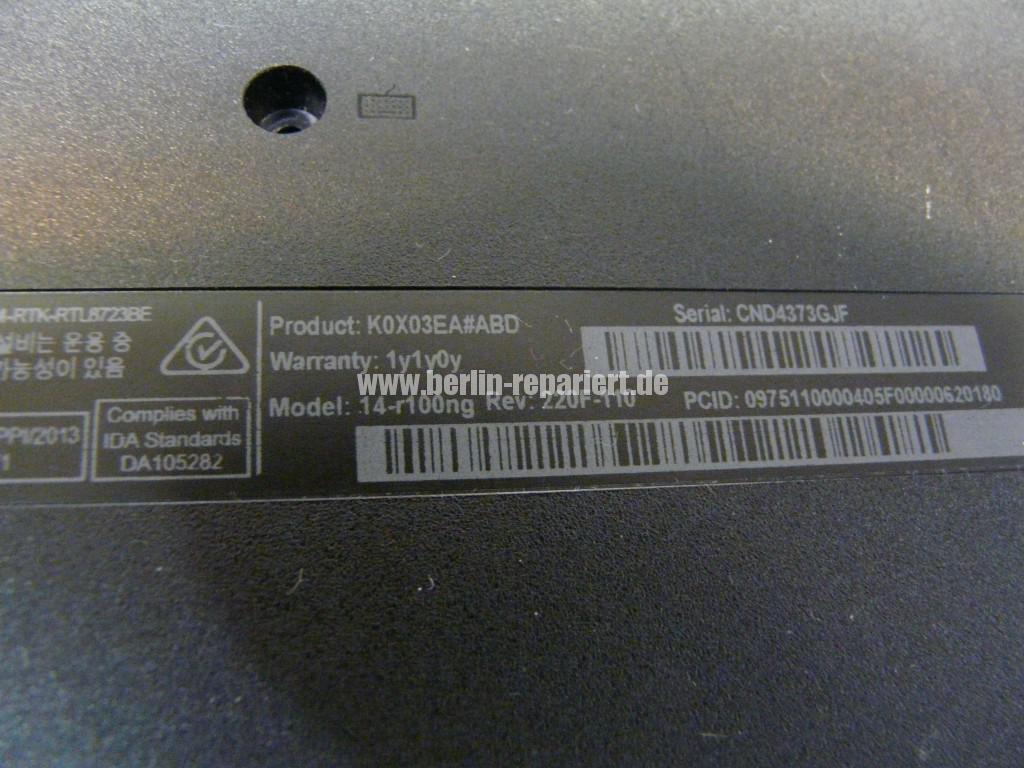 HP Sleekbook 14, Tastatur Defekt, Tastatur tauschen (6)