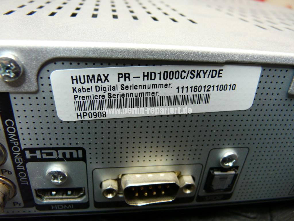 Humax Sky PR-HD1000, keine Funktion (4)