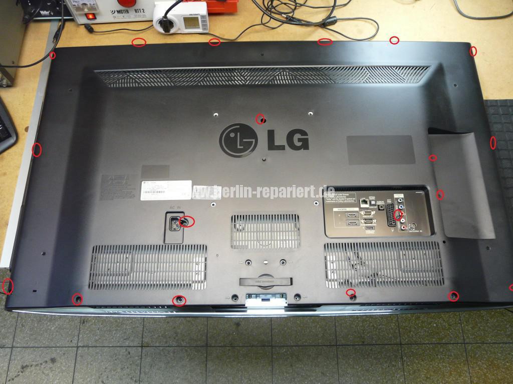 LG 42LD750, Schaltet nicht ein, Standby blinkt langsam (3)