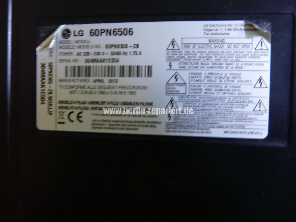 LG 60PN6506, geht nicht an, LED Leuchtet, ein Klick ist zu hören (8)