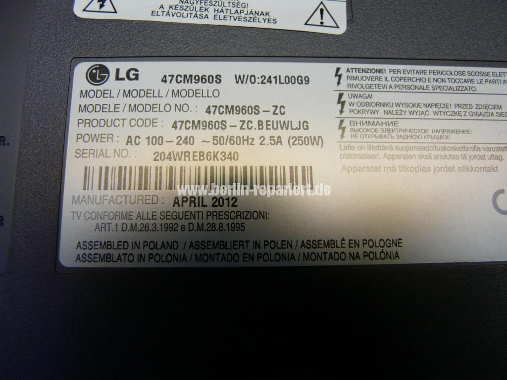 LG LE46B650, Steifen in Bild (7)