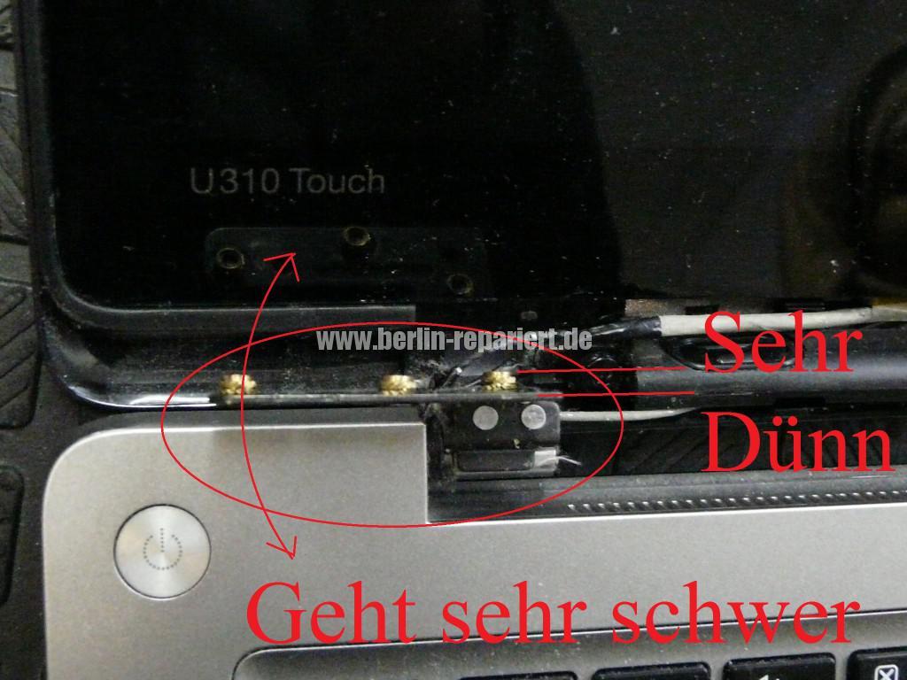Lenovo Ideapad U310, Display Defekt, Scharniere Defekt (2)