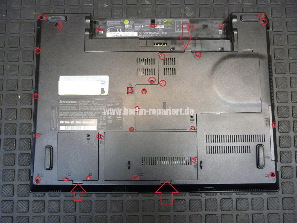 Lenovo SL500, Scharniere Defekt, Scharniere Tauschen (3)