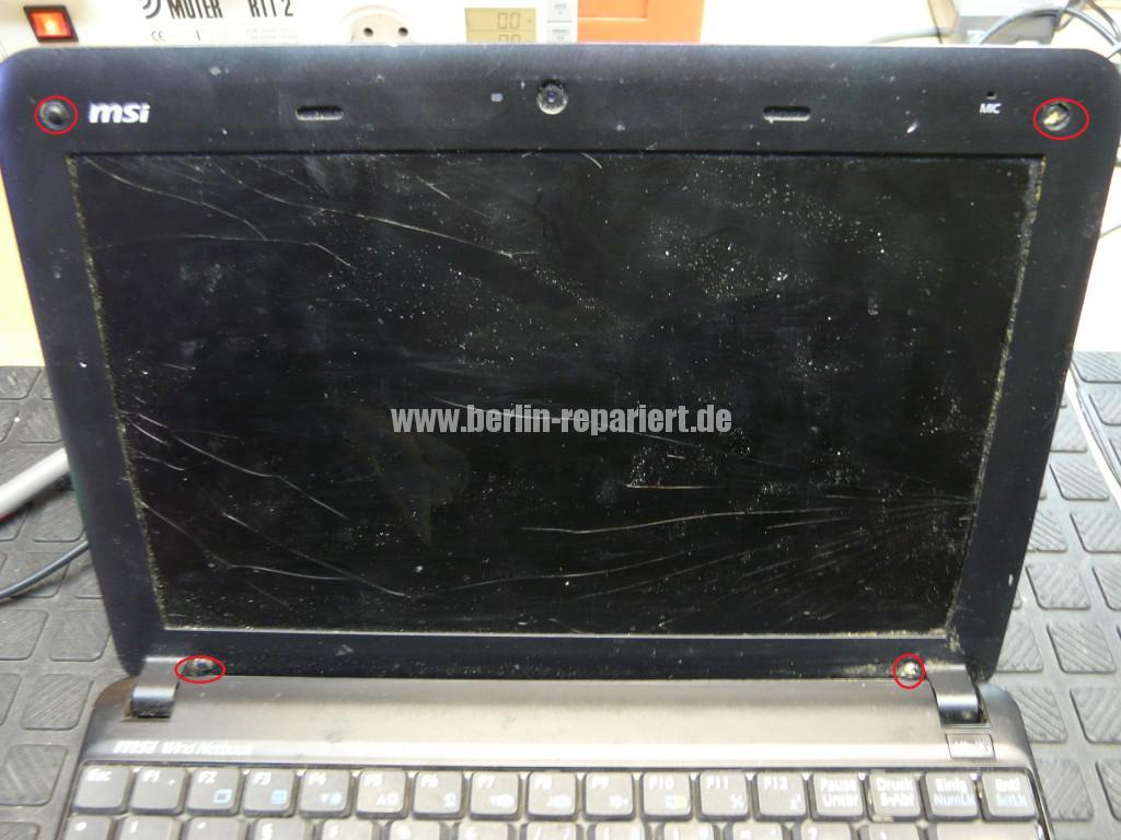 MSI U100, Display Schaden (2)