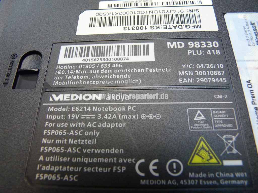 Medion Akoya MD 98330, Lüfter Reparieren (19)
