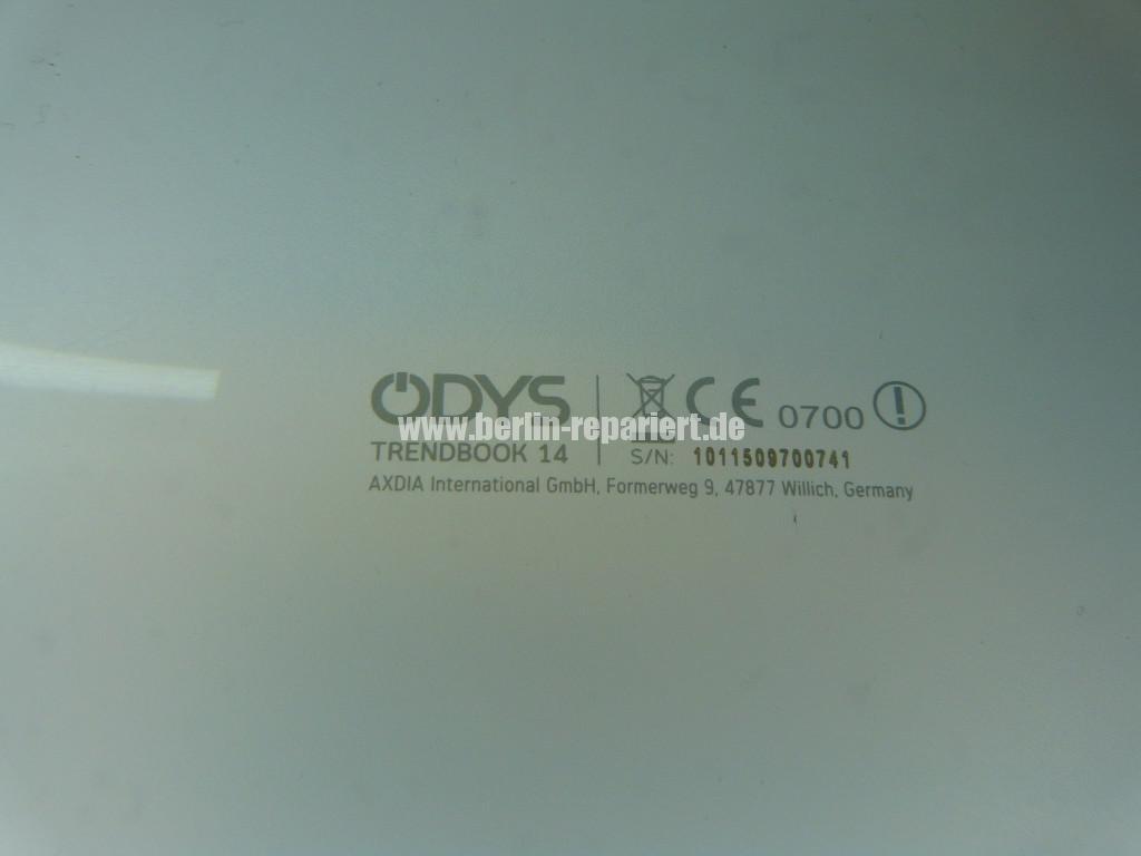 ODYS  Trendbook 14, Display Defekt, Display Tauschen (12)