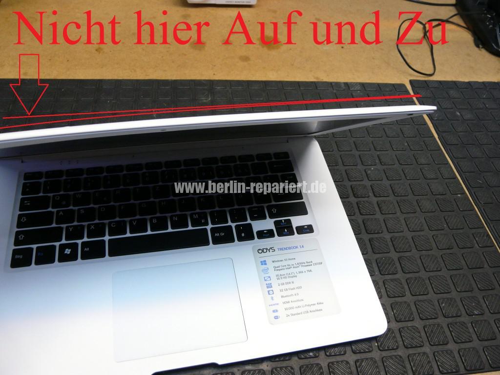 ODYS  Trendbook 14, Display Defekt, Display Tauschen (4)
