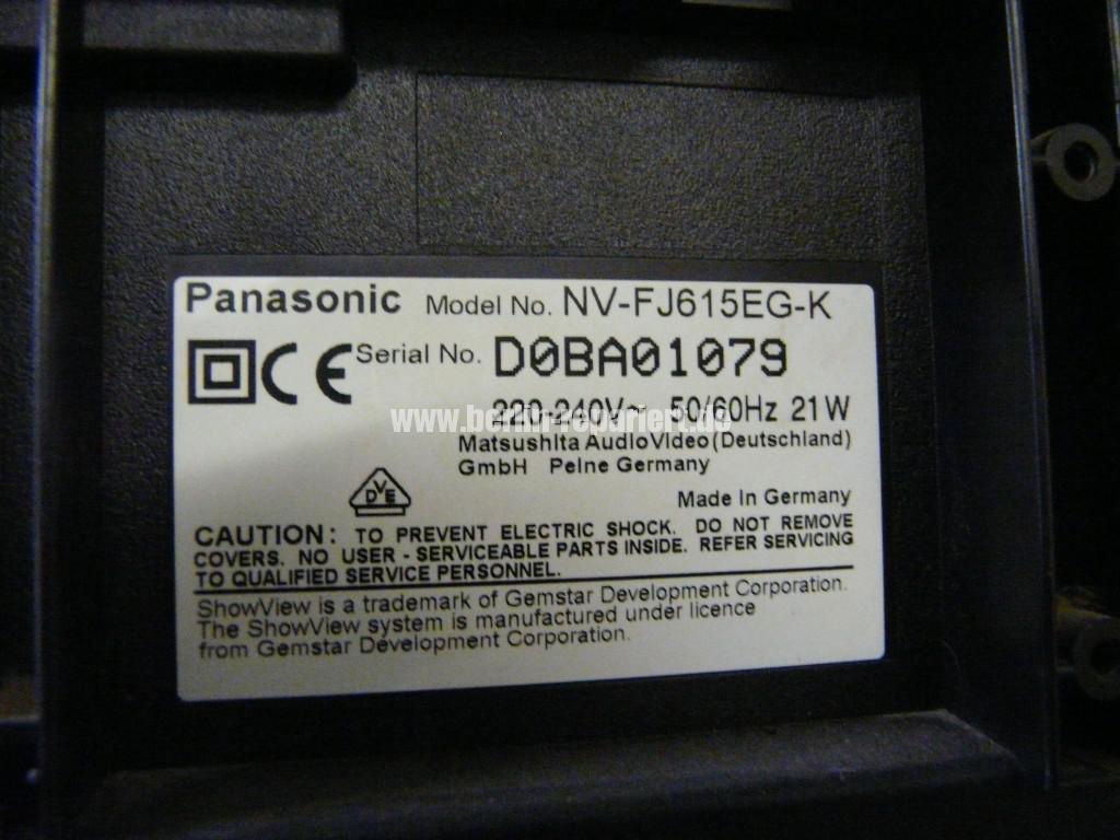 Panasonic NV-FJ, Kassette klemmt (7)