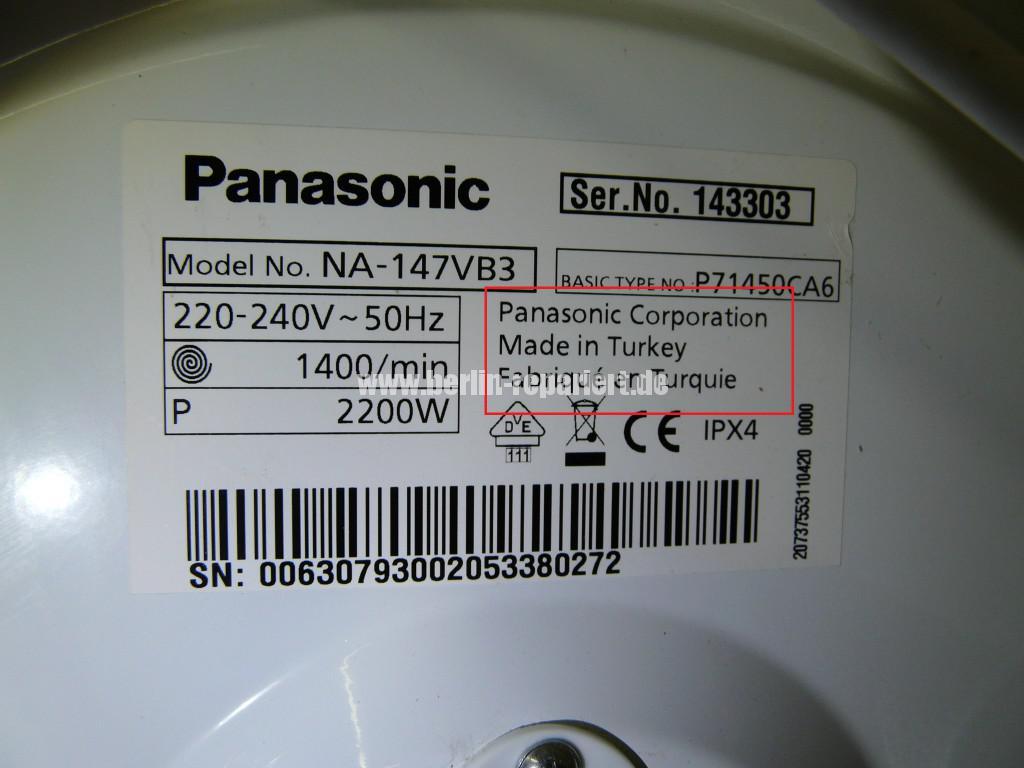 Panassonic NA-147, bleibt stehen, Error (7)