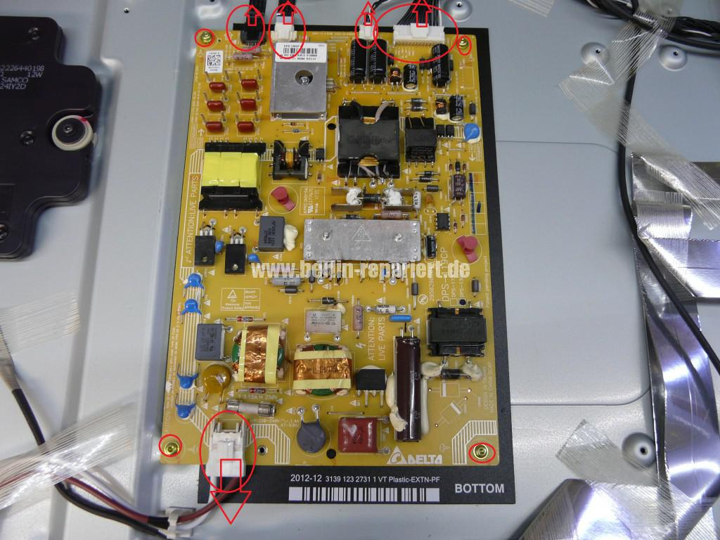 Philips 47PFL6877, keine Funktion, Netzteil Defekt, Netzteil Reparieren (3)