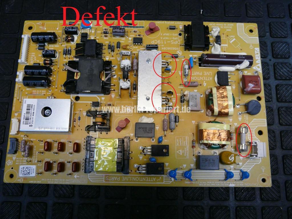 Philips 47PFL6877, keine Funktion, Netzteil Defekt, Netzteil Reparieren (4)