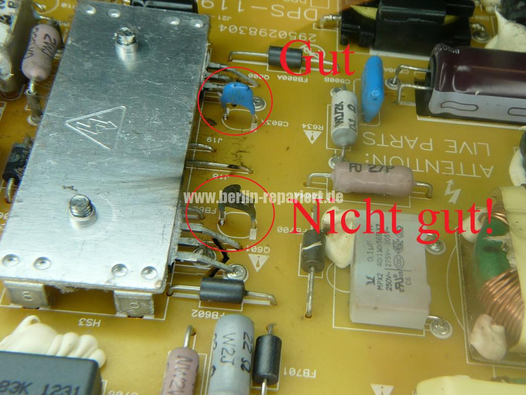 Philips 47PFL6877, keine Funktion, Netzteil Defekt ...