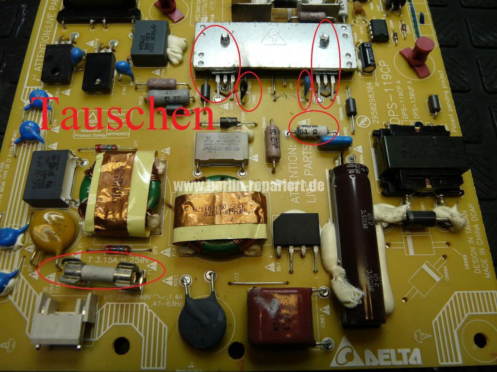 Philips 47PFL6877, keine Funktion, Netzteil Defekt, Netzteil Reparieren (6)
