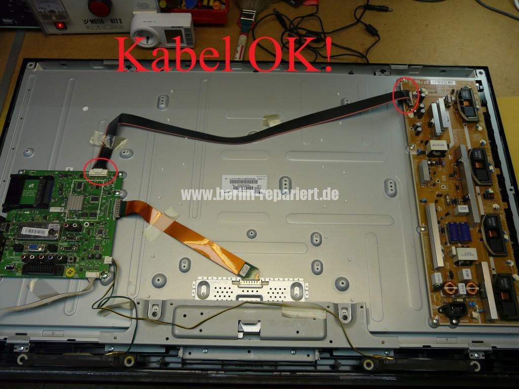 Samsung LE40B530, geht aus, lässt sich nicht bedienen (4)