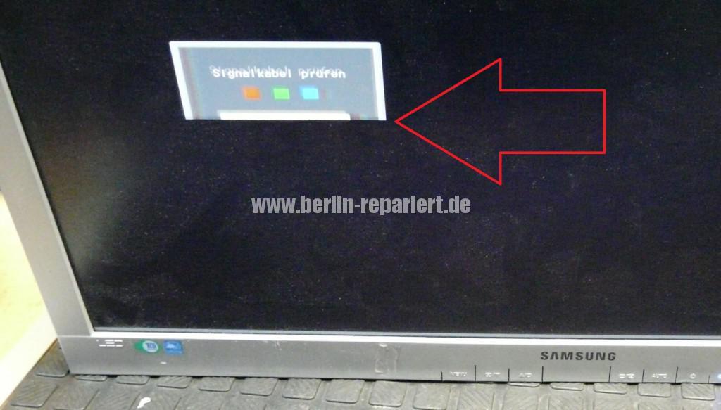 Samsung LS24a450, Streifen in Bild (9)