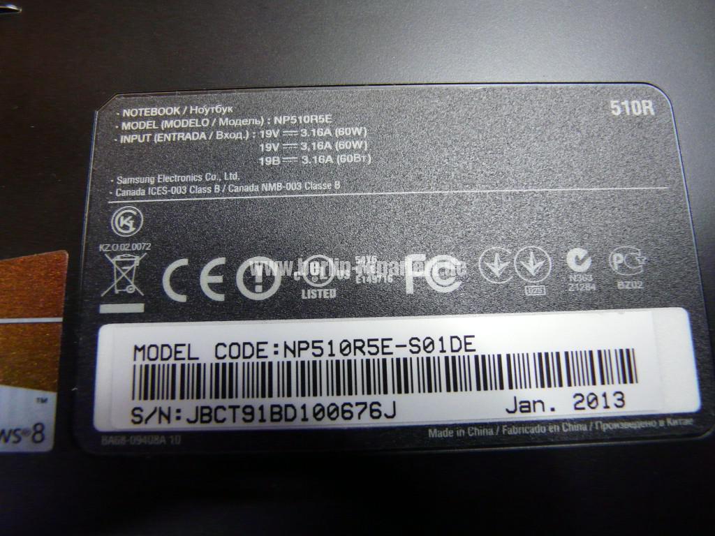 Samsung NP510RSE, Akku wird nicht geladen (12)