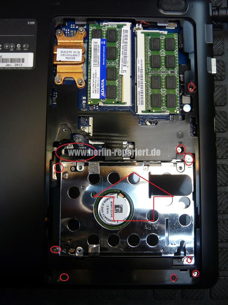 Samsung NP510RSE, Akku wird nicht geladen (4)