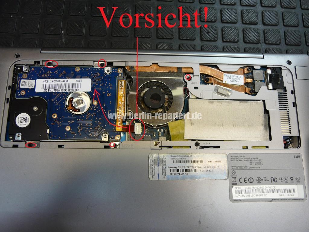 Samsung NP535U, Netzbuchse Defekt, Netzbuchse tauschen (3)