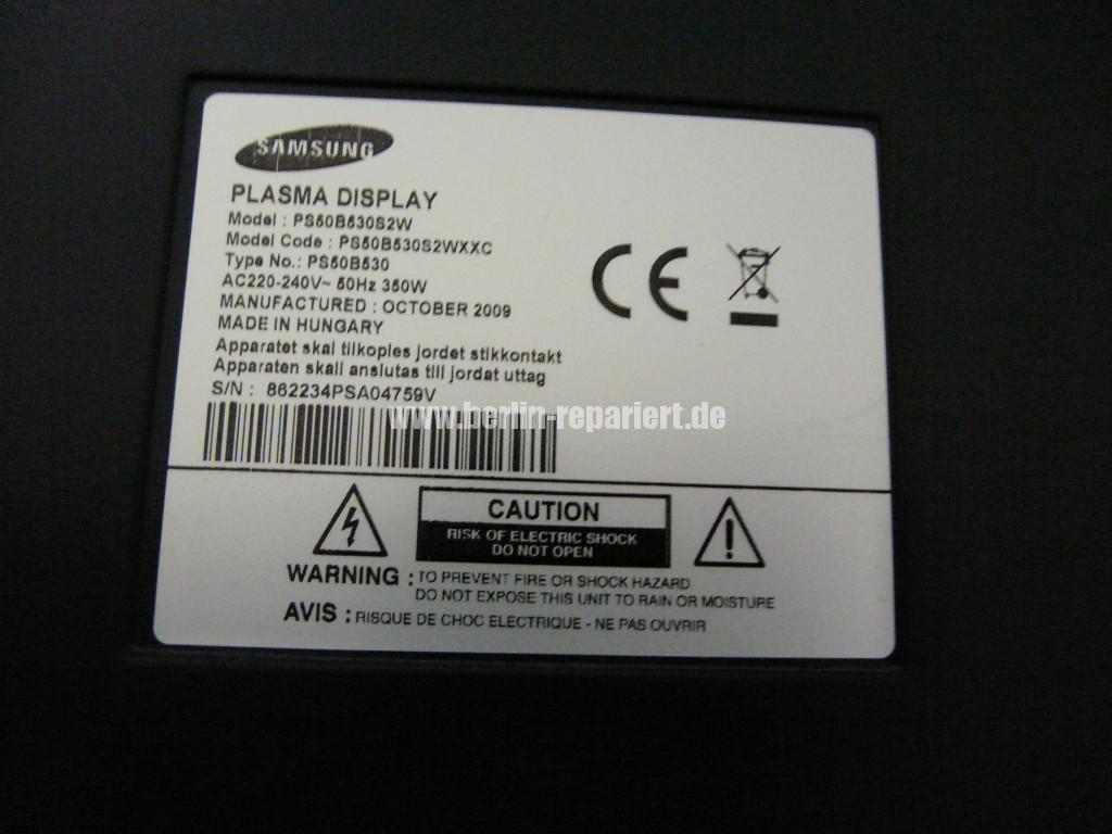 Samsung PS50B530S2, Klickt, keine Funktion (15)