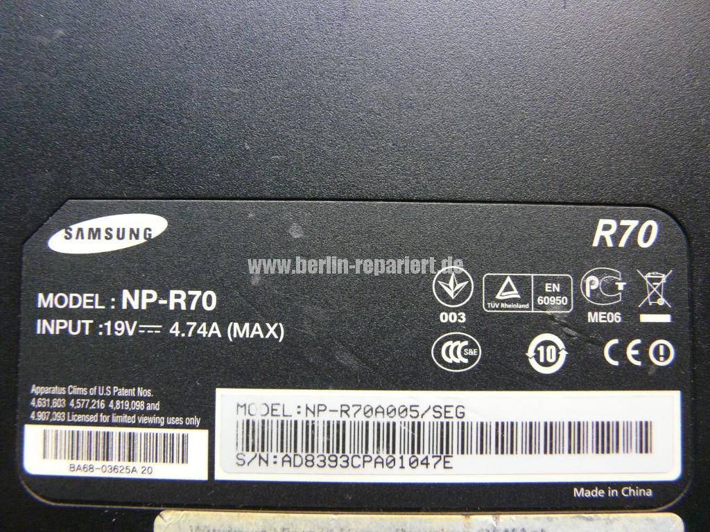 Samsung R70, Streifen in Bild (6)