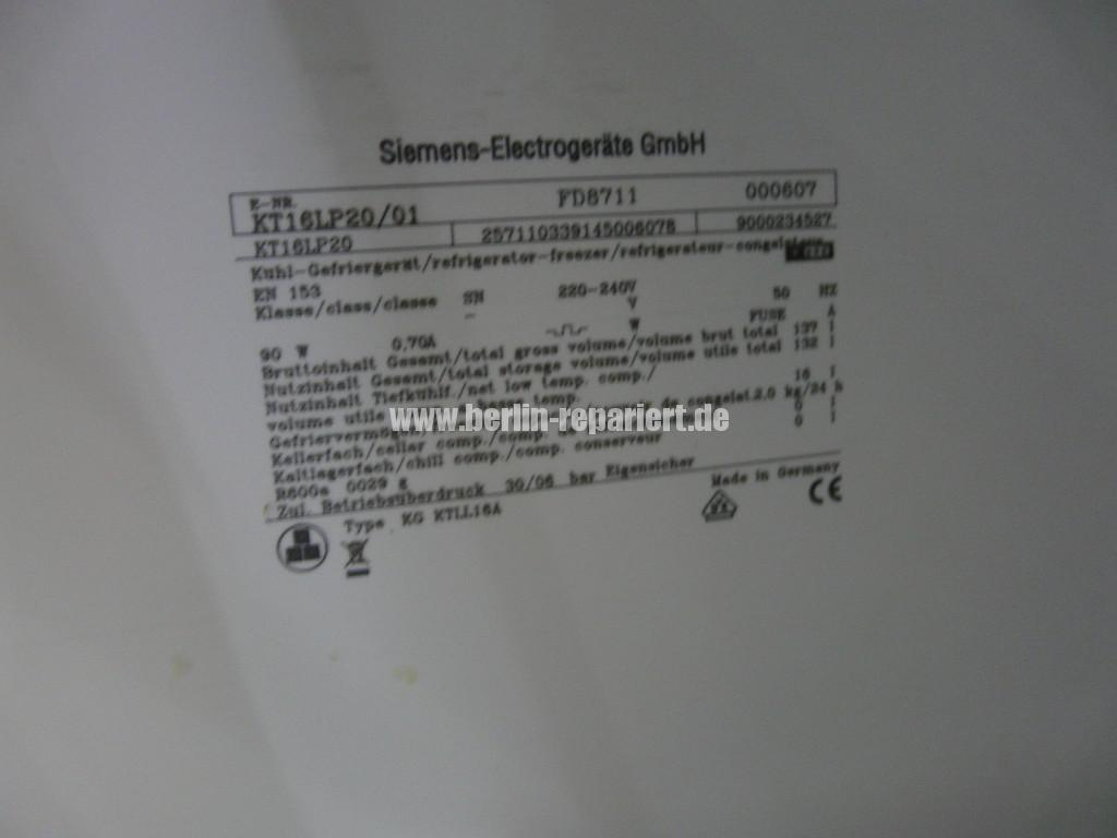 Siemens KT16LP20, Türdichtung Defekt (4)