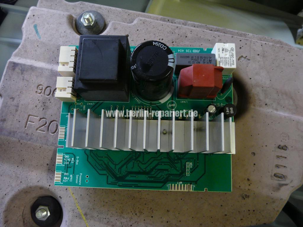 Siemens S16-74 WM16S742 F57, Fehler 57, Motor Elektronik Defekt (2)