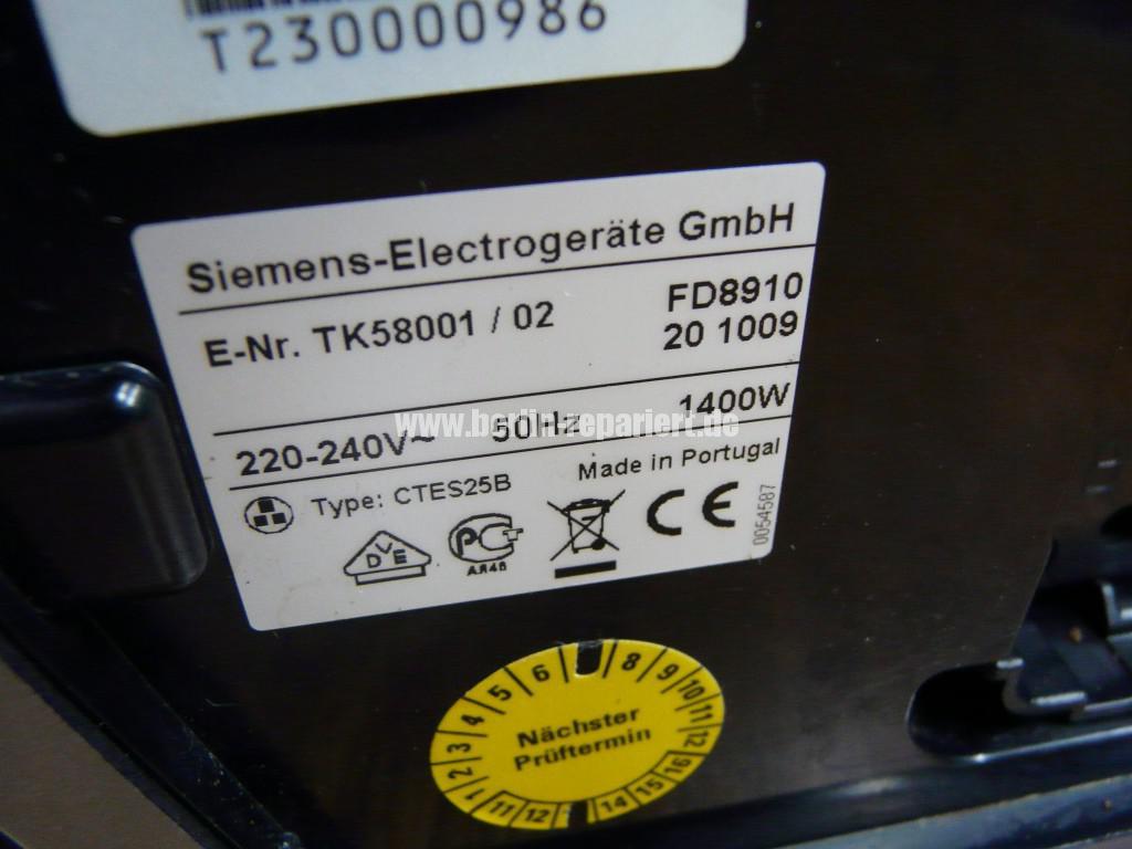 Siemens Surpresso TK58001, Wassertank Fehler  (4)