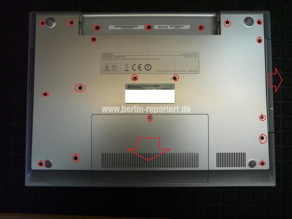 Sony Vaio VGN-N21Z, Lüfter Defekt (2)