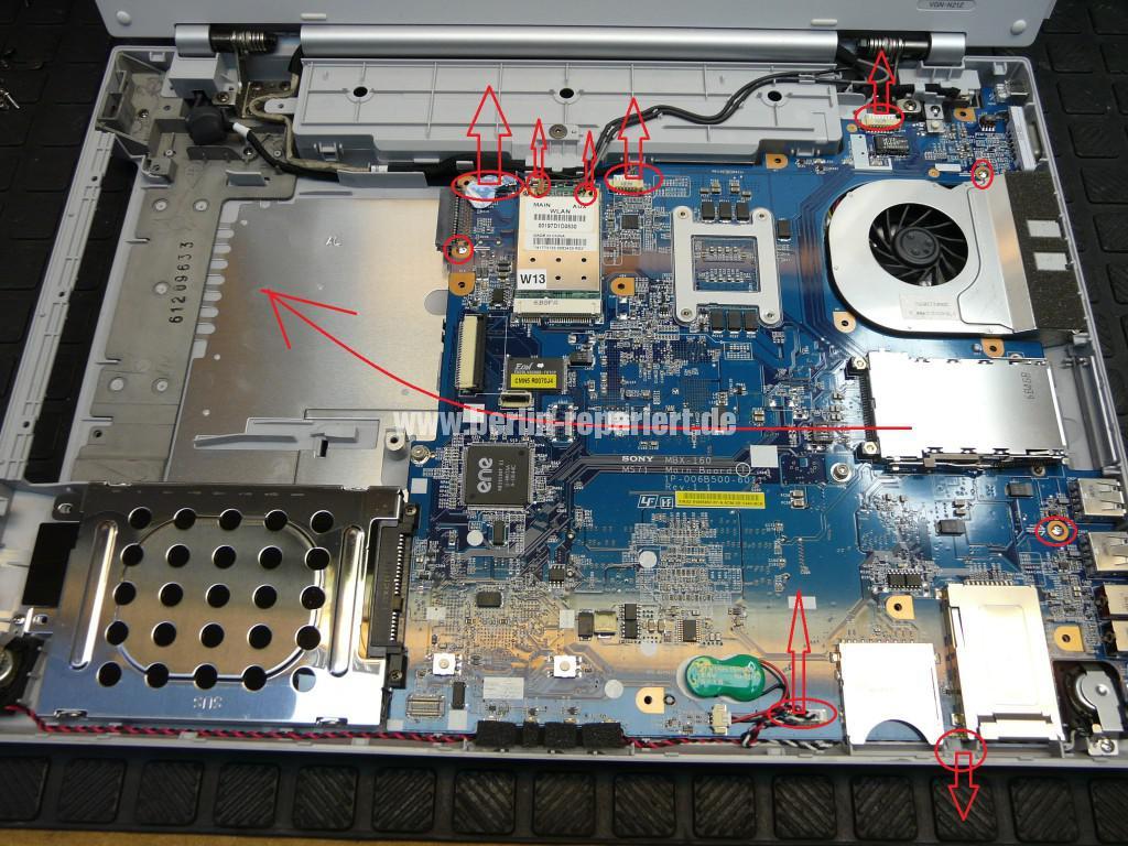 Sony Vaio VGN-N21Z, Lüfter Defekt (7)