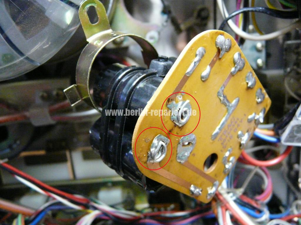 TEAC A-3300, Capstanmotor zu langsam, Capsatnmotor dreht nicht (6)