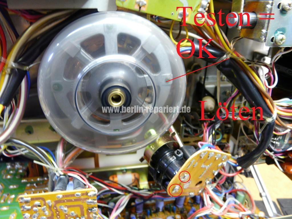 TEAC A-3300, Capstanmotor zu langsam, Capsatnmotor dreht nicht (7)