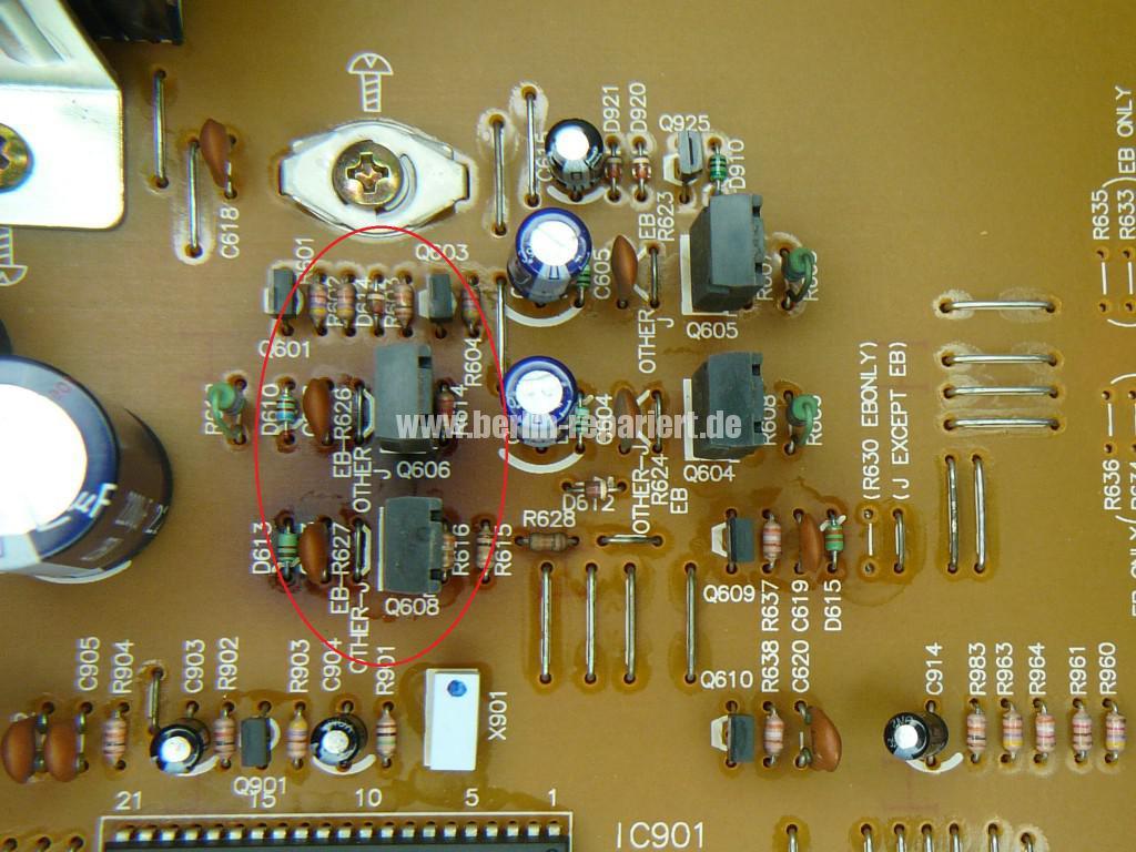 Technics RS-B655, geht alleine aus (2)