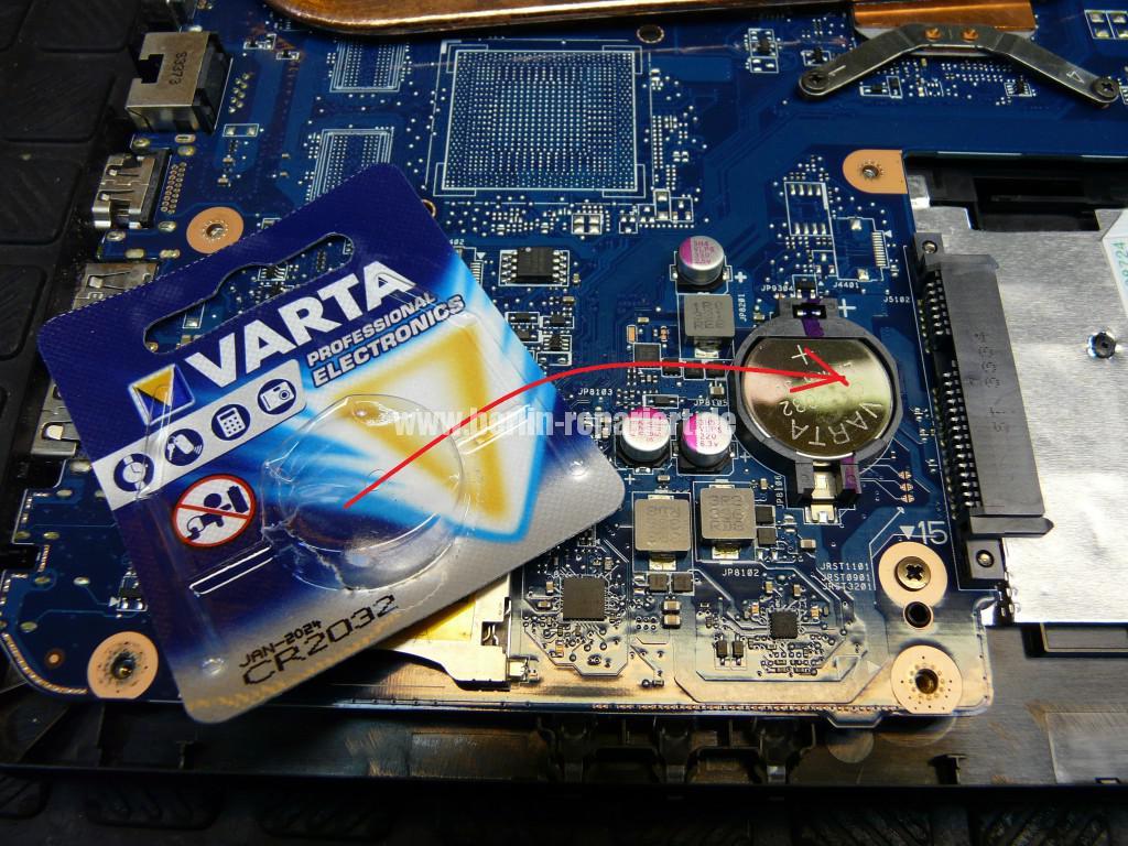 Toshiba C50D, kein Bild, CMOS Batterie, Lüfter Reinigen (12)