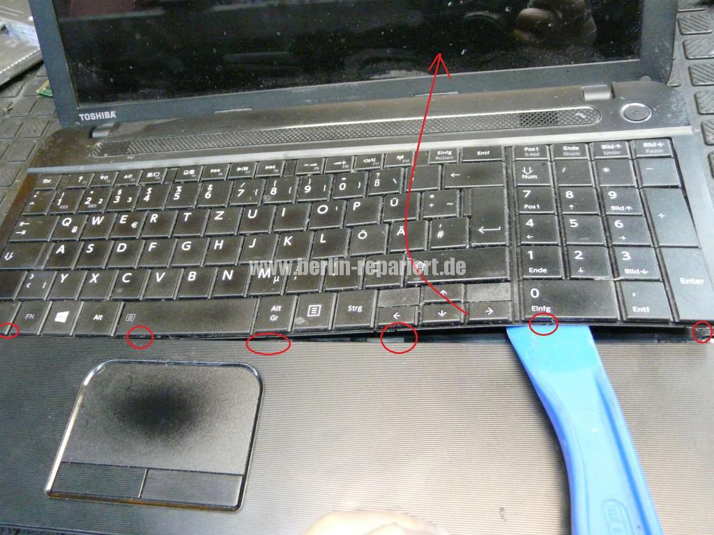 Toshiba C50D, kein Bild, CMOS Batterie, Lüfter Reinigen (3)